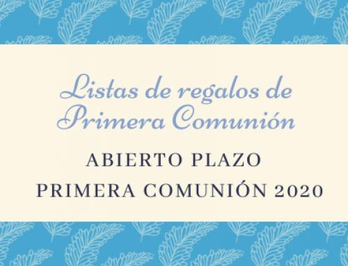 Listas de regalos de Primera Communión.