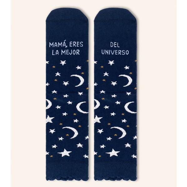 calcetines-mama-eres-la-mejor-del-universo-lunas