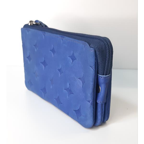 monedero-triple-piel-azul-2