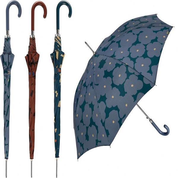 paraguas-largo-señora-winter-flower-fondo-marrón
