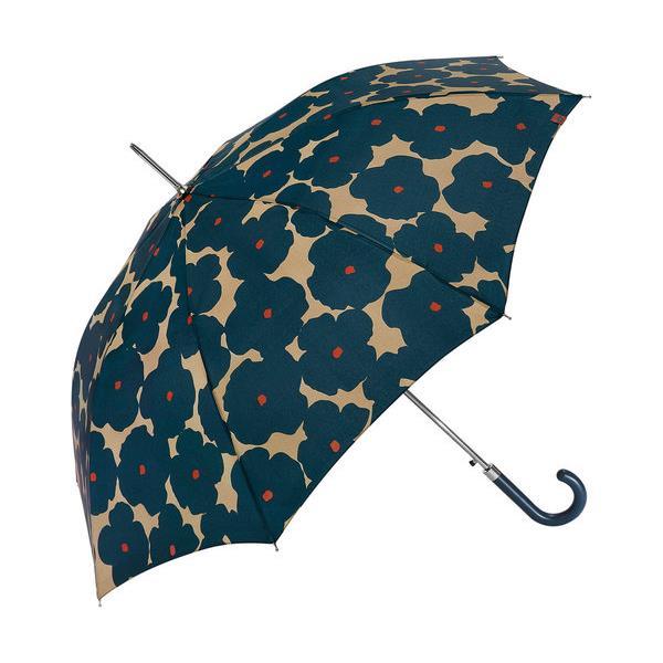 paraguas-largo-señora-winter-flower-fondo-beige