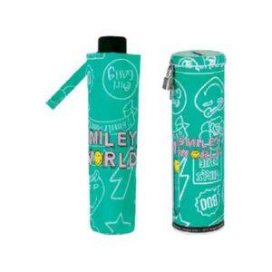 paraguas-plegable-en-lata-smiley-funny-verde