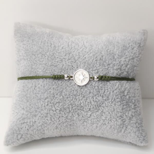 pulsera-plata-destello-verde